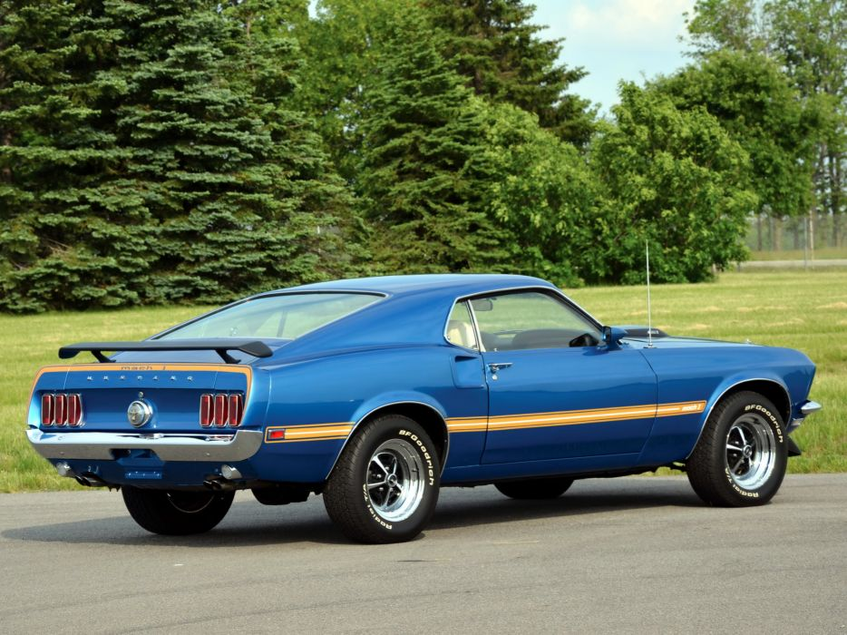 1969 Ford Mustang Mach 1 muscle classic wallpaper