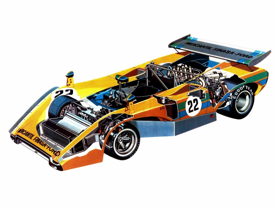 1972 Avallone Ford race racing classic interior engine engines wallpaper