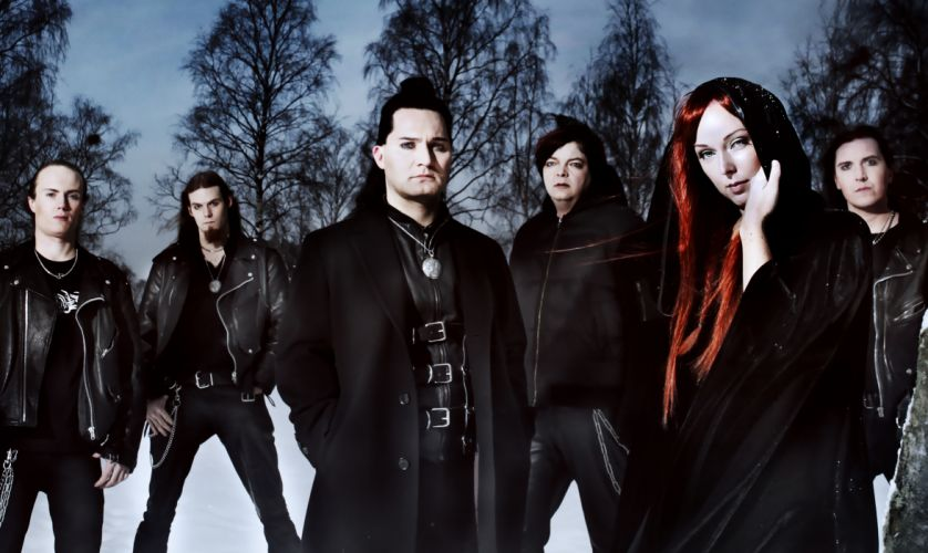 Amberian dawn Heidi Parviainen symphonic metal power heavy gothic wallpaper