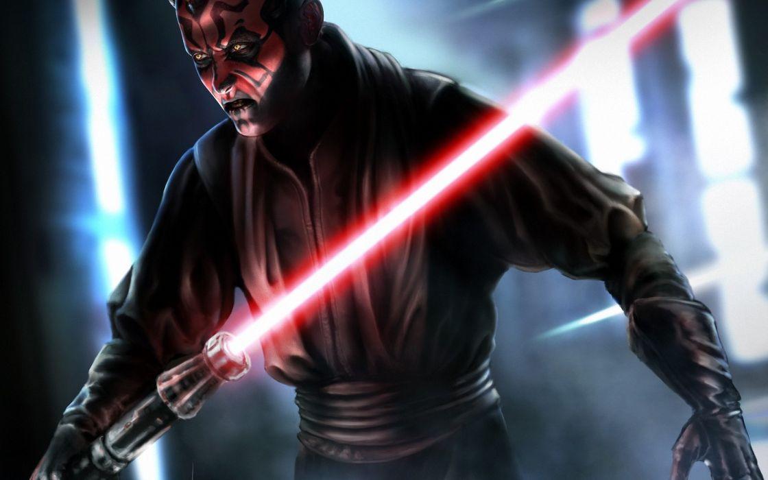 Art Jedi Star Wars Sith Darth Maul Lord Sword Light Sci Fi Warrior Warriors