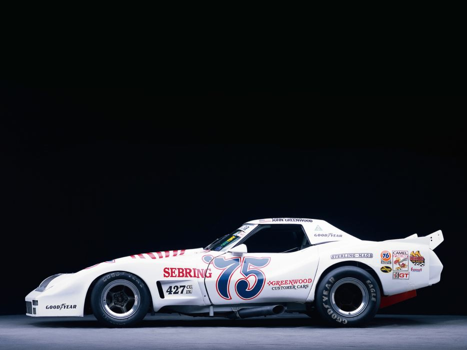 1974 Greenwood Chevrolet Corvette IMSA Road Racing G-T C-3 race supercar supercars muscle classic hot rod rods    g wallpaper