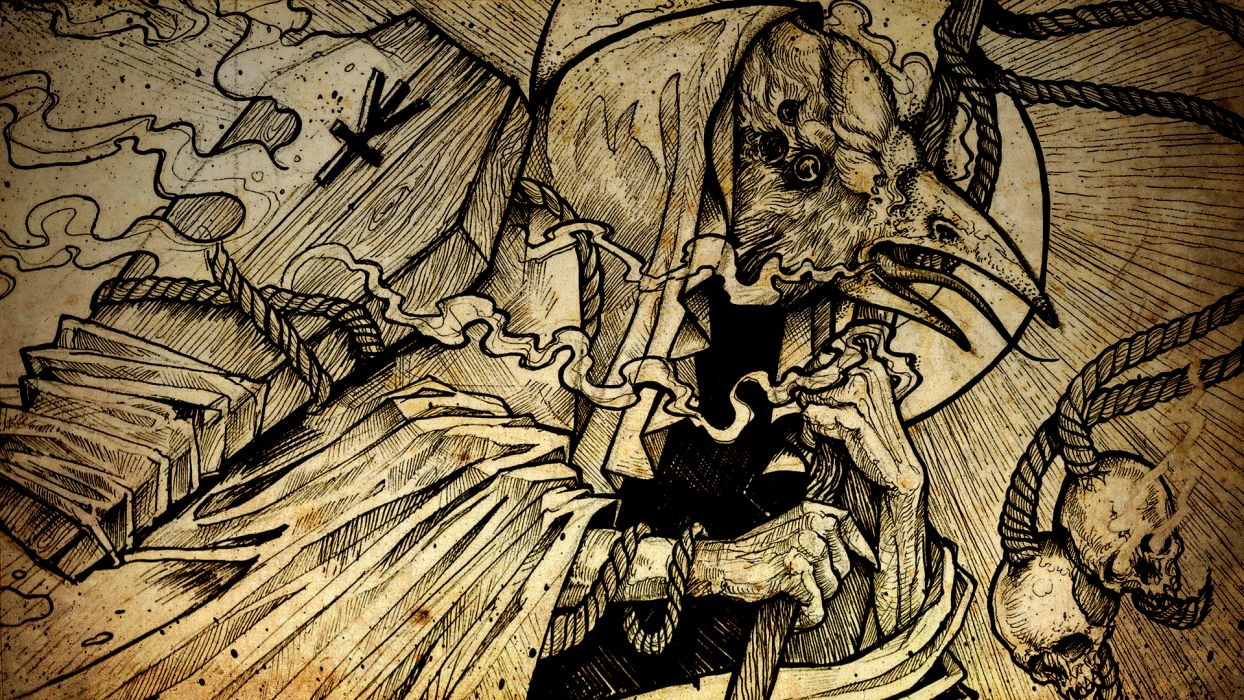 dark goth gothic raven occult skulls skulls reaper wallpaper