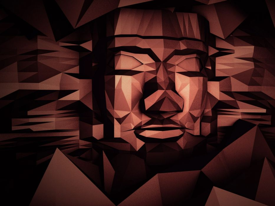 Face Tribal Polygon Art Abstract wallpaper