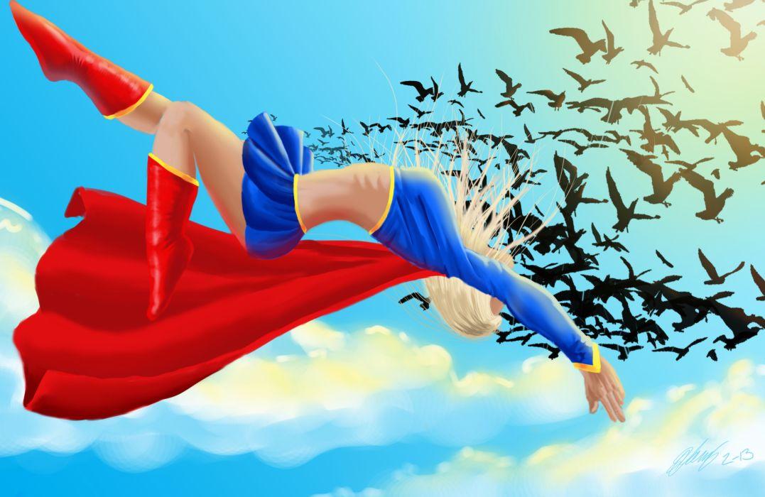 Heroes comics Supergirl Fantasy Girls superhero    f wallpaper