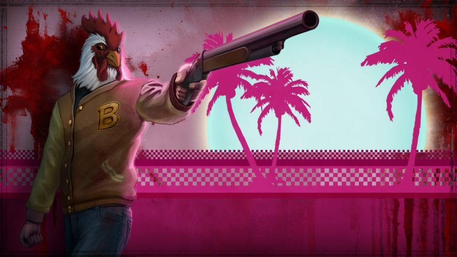 Hotline Miami Pink c wallpaper