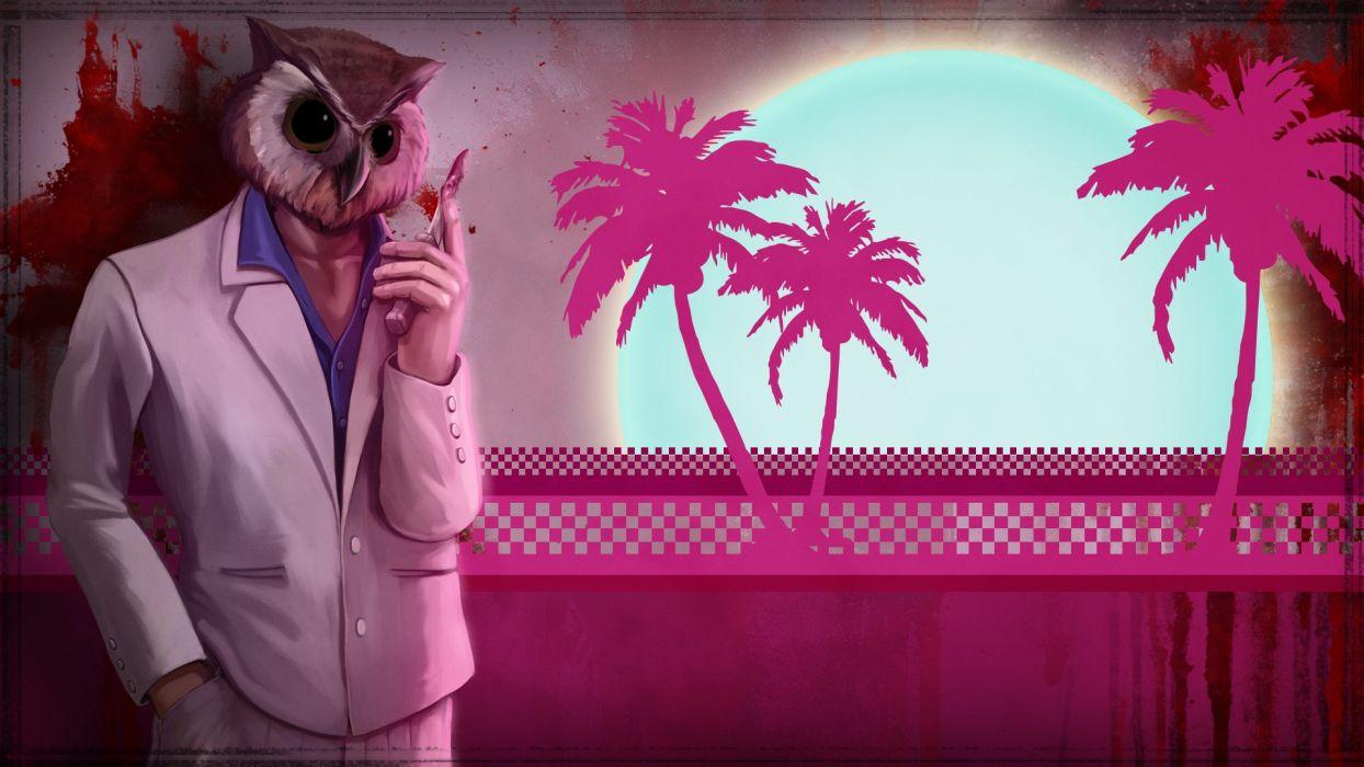 Hotline Miami Pink g wallpaper