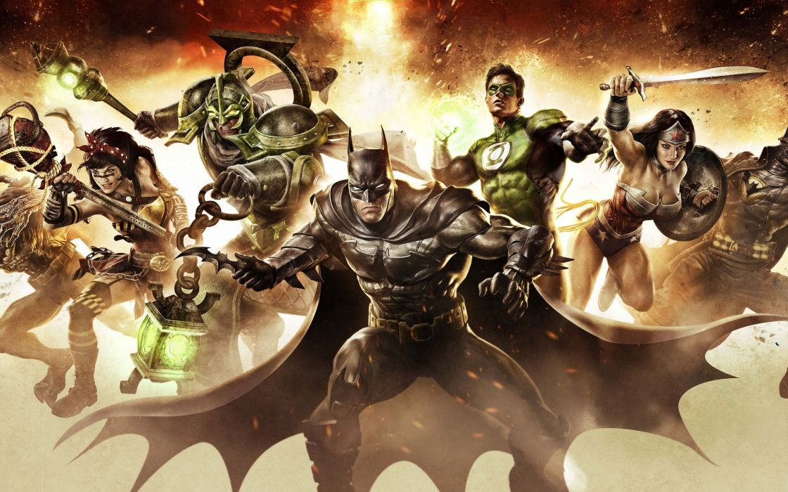 Infinite Crisis Batman Wonder Woman Green Lantern Gaslight Nightmare dc-universe d-c dc-comics game games superhero wallpaper