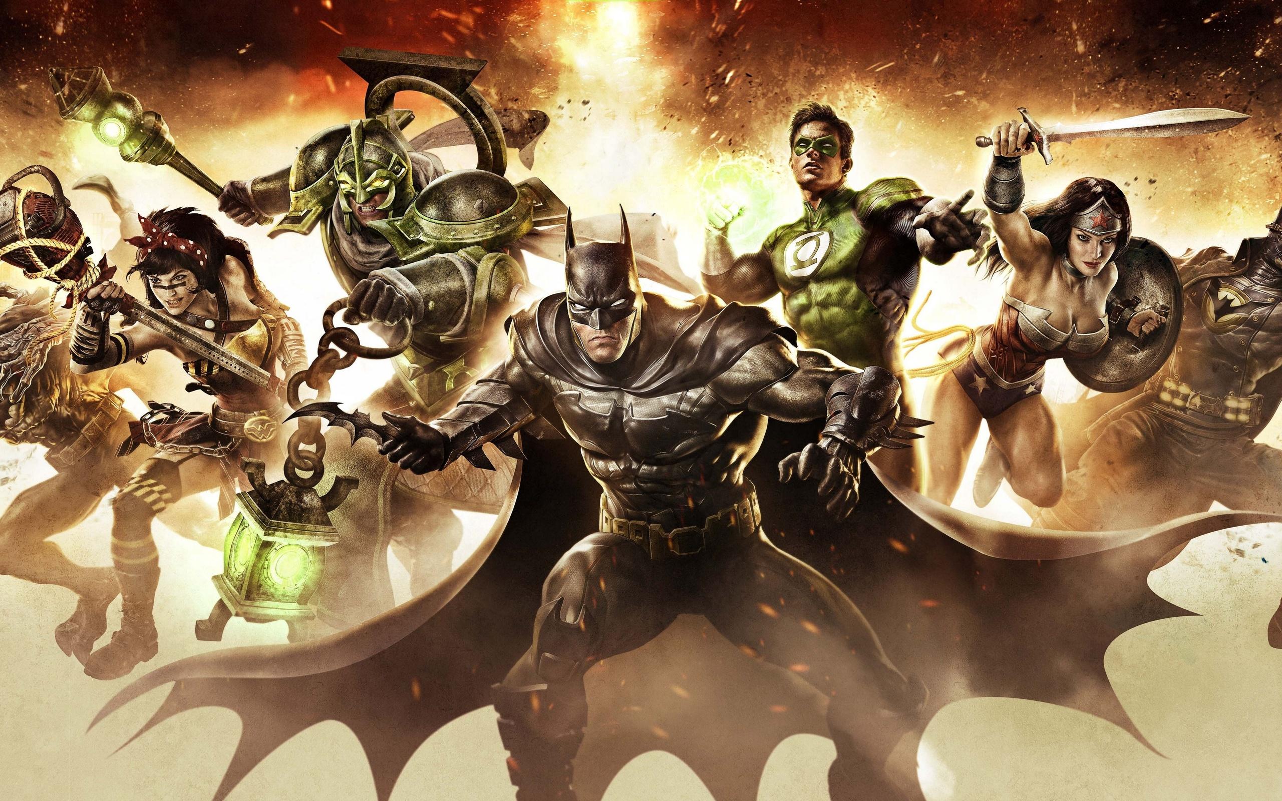 infinite crisis batman wonder woman green lantern gaslight