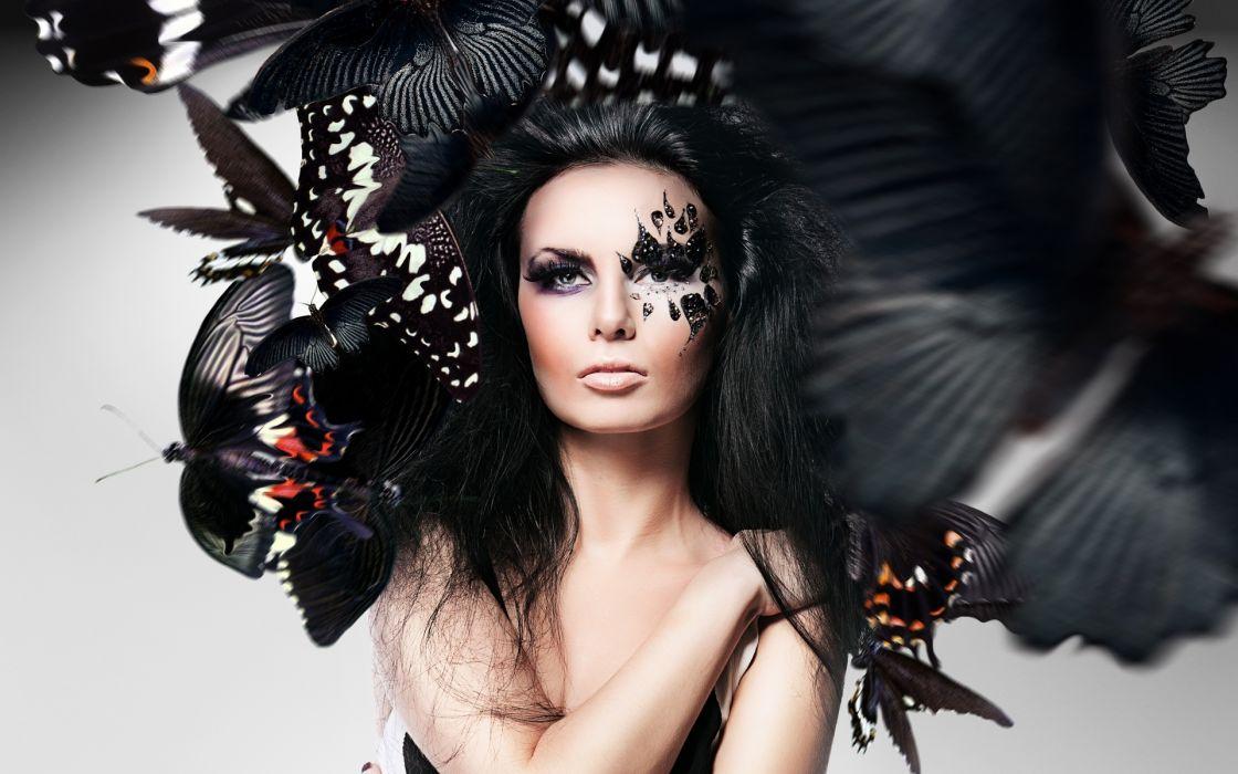 makeup style fashion model wallpaper