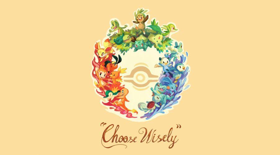 Pokemon Choose Wisely wallpaper