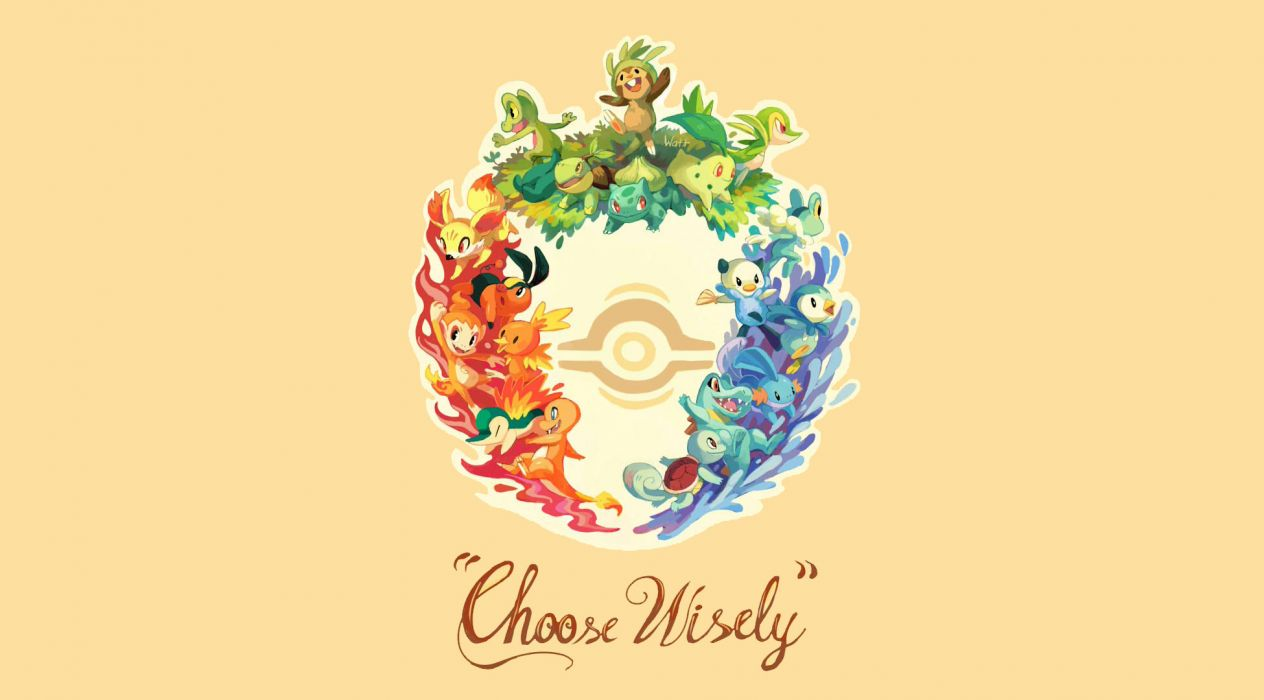 Pokemon Choose Wisely wallpaper