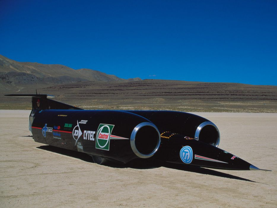 1997 Thrust SSC Record-Car Jet Jets supercar supercars race racing wallpaper