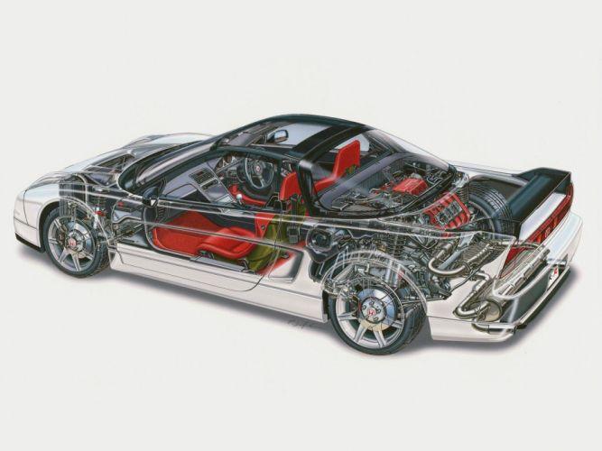 2002aei05 Honda NSX-R NA2 supercar supercars nsx interior engine engines wallpaper