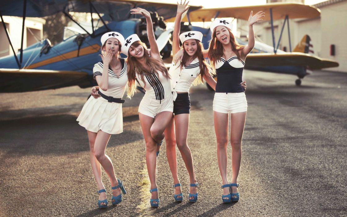 sistar kpop Hyolyn Bora Soyou Dasom plane k-pop wallpaper