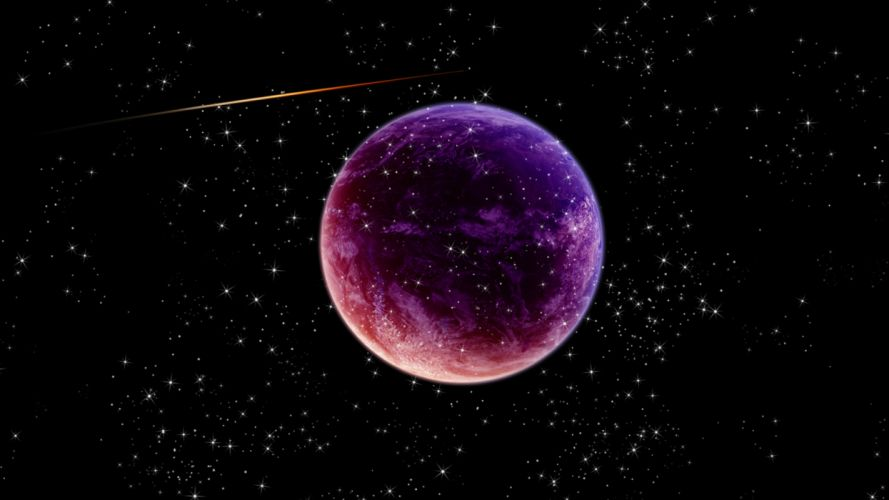 Space planets meteors stars planet wallpaper
