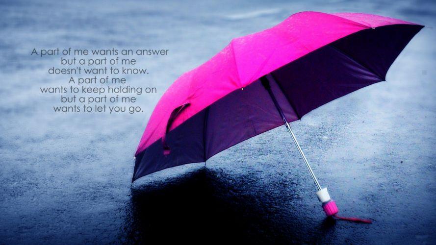 Umbrella Answer mood bokeh wallpaper