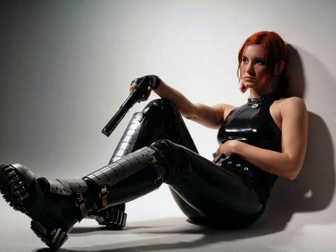 women sexy weapons weapon gun brunette military guns gun girl girls pistol armor sci-fi wallpaper
