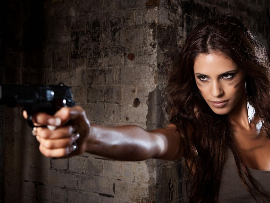 women sexy weapons weapon gun brunette military guns gun girl girls pistol wallpaper