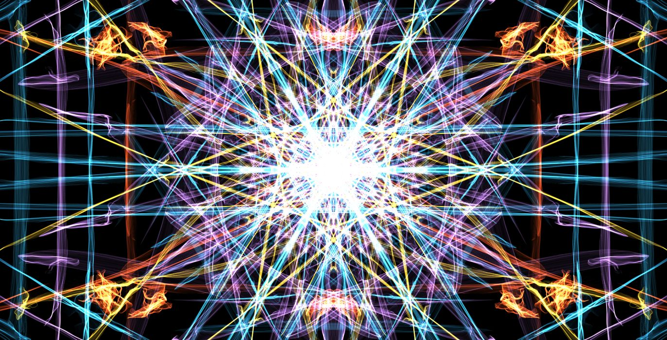 fractal psychedelic color pattern bright light wallpaper