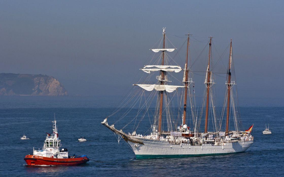 schooner sailboat tugboat boat sea ocean ship boat wallpaper