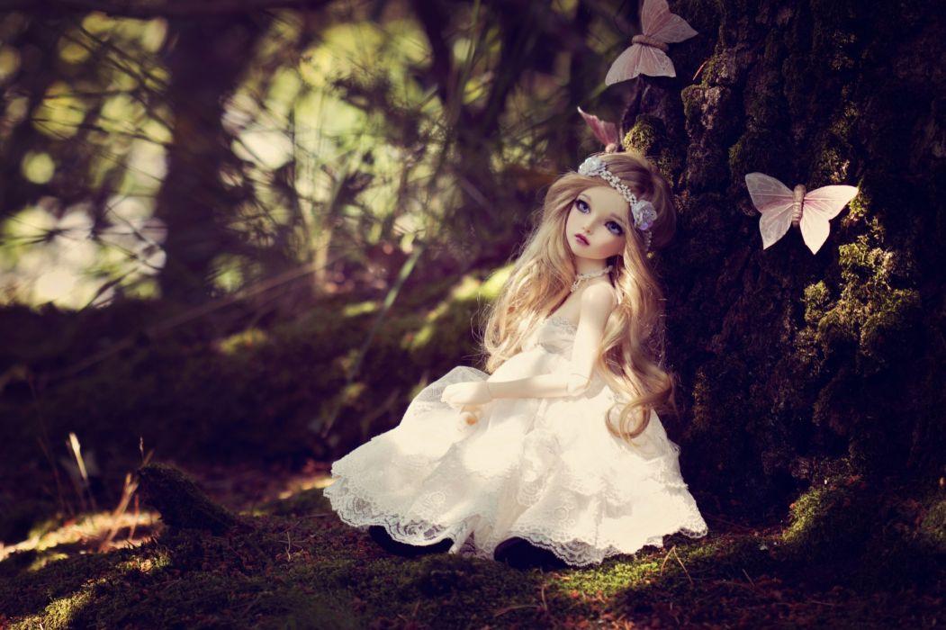 toys dolls bokeh toy girl girls doll fantasy butterfly wallpaper