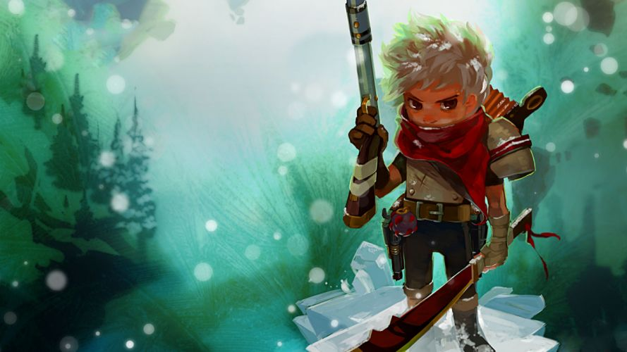 Bastion game games warrior warriors weapon weapons cartoon wallpaper