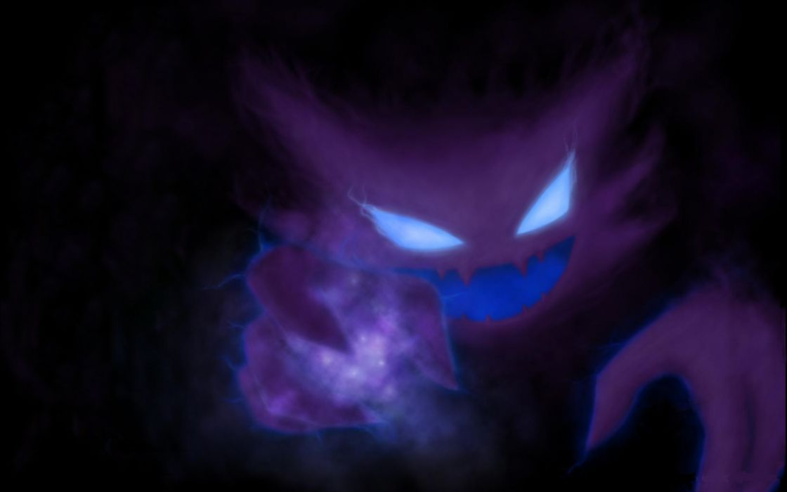 Dark Monster Magic Evil Horror Halloween Glow Wallpaper