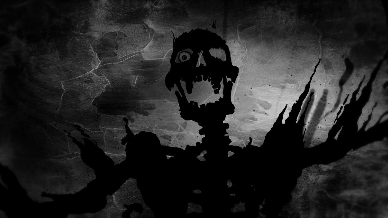 dark skulls skull evil halloween scream wallpaper