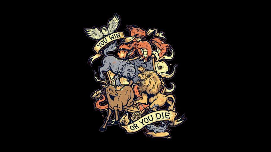 Game of Thrones fantasy crest wallpaper