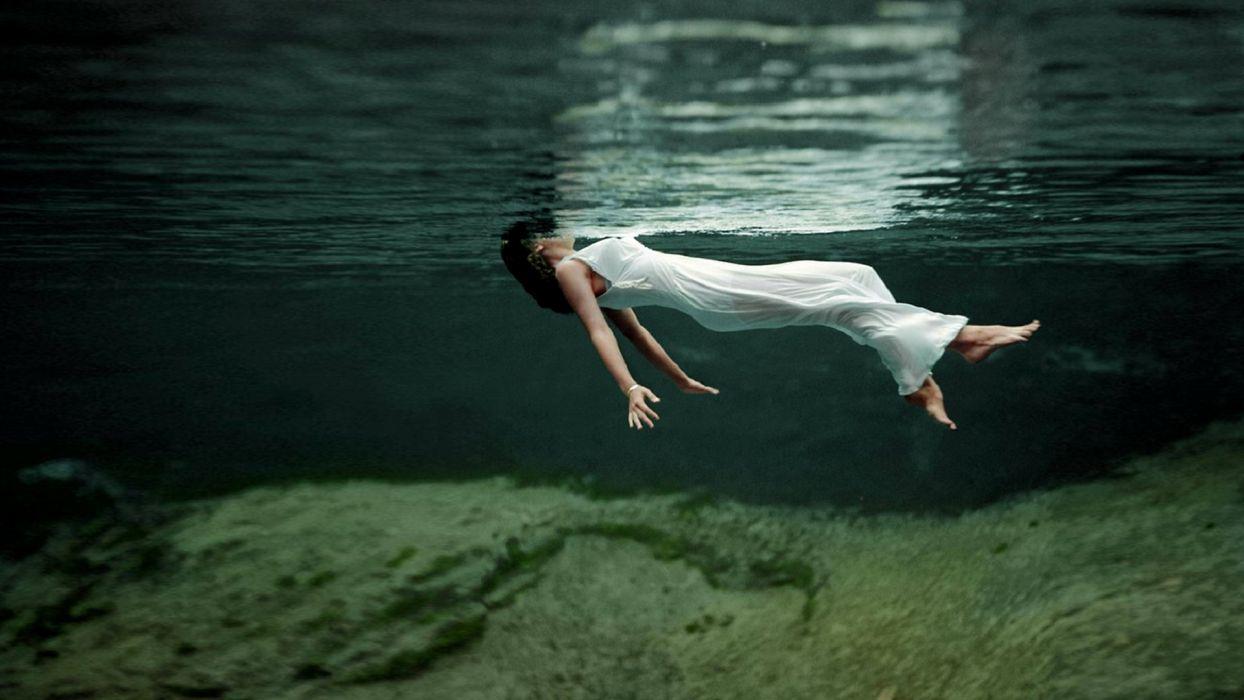 mood women girl girls underwater bokeh wallpaper