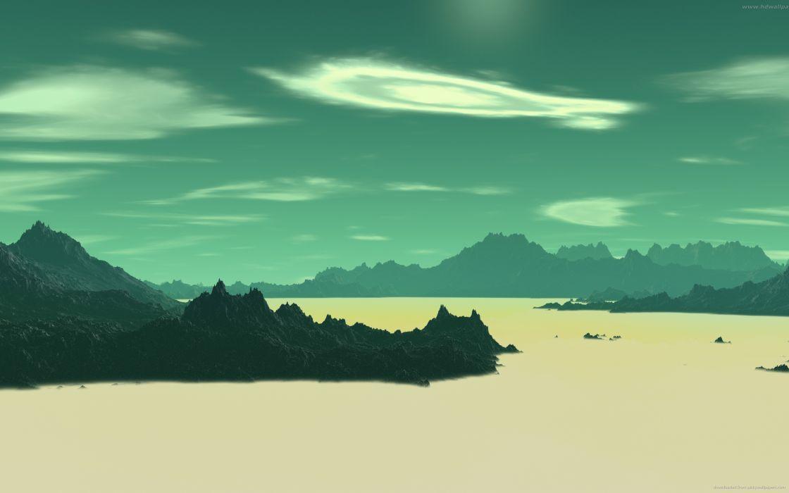 sci-fi landscapes alien planetscape wallpaper