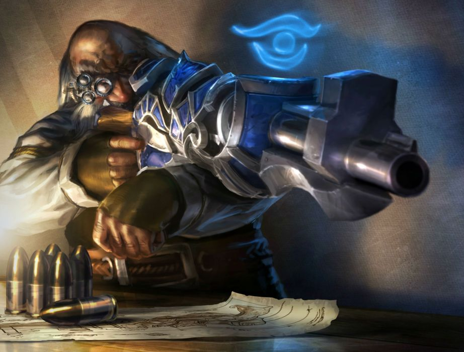 World of WarCraft ( WoW ) Warriors Cannon sniper Games Fantasy wallpaper