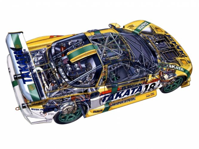 2002aei10 Honda NSX GT500 NA2 race racing supercar supercars interior engine engines g wallpaper
