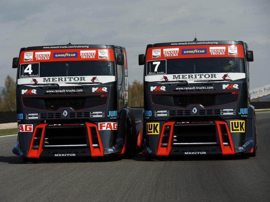 2010 Renault Premium Course Formula Truck tractor semi rig rigs race racing wallpaper