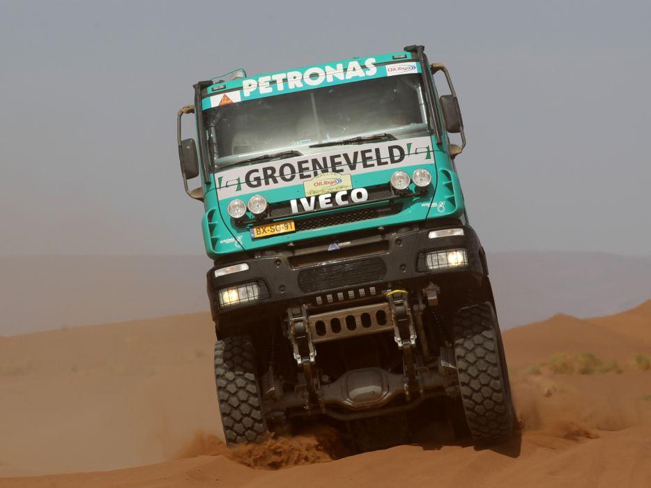 2011 Iveco Trakker Evolution II 4x4 offroad race racing truck tractor semi rig rigs     f wallpaper