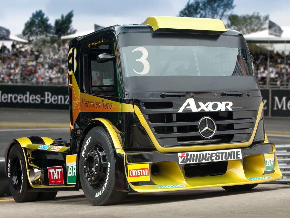 2011 Mercedes Benz Axor Formula Truck tractor semi rig rigs race racing wallpaper