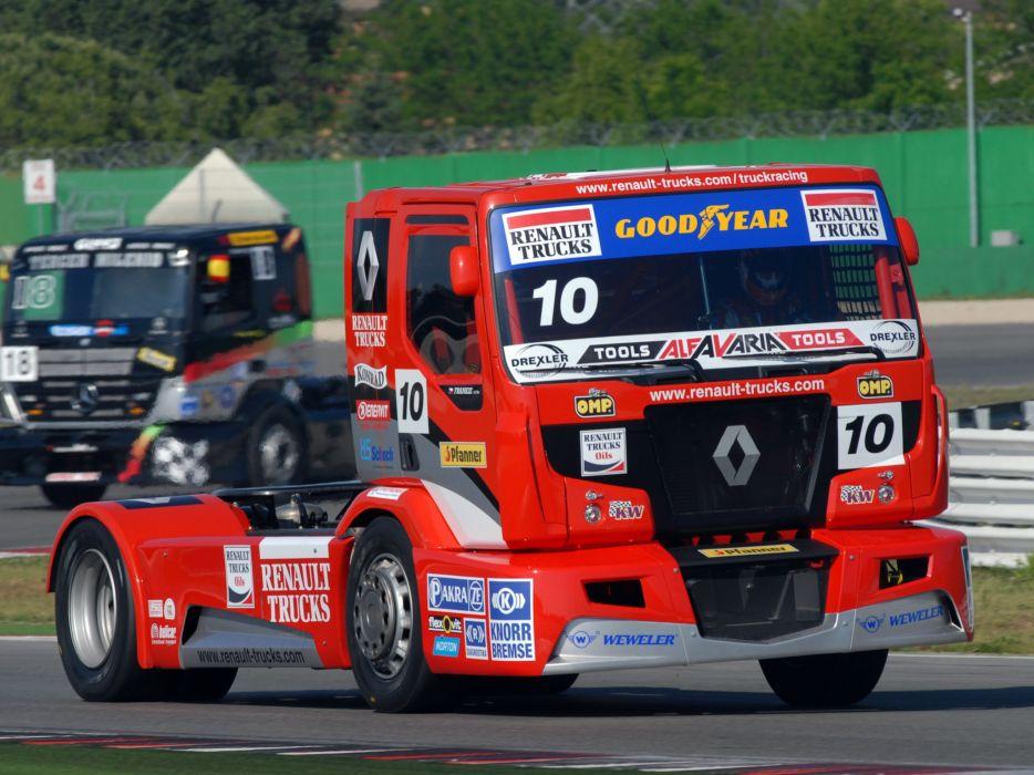2011 Renault Premium Course Formula Truck tractor semi rig rigs racing race    d wallpaper