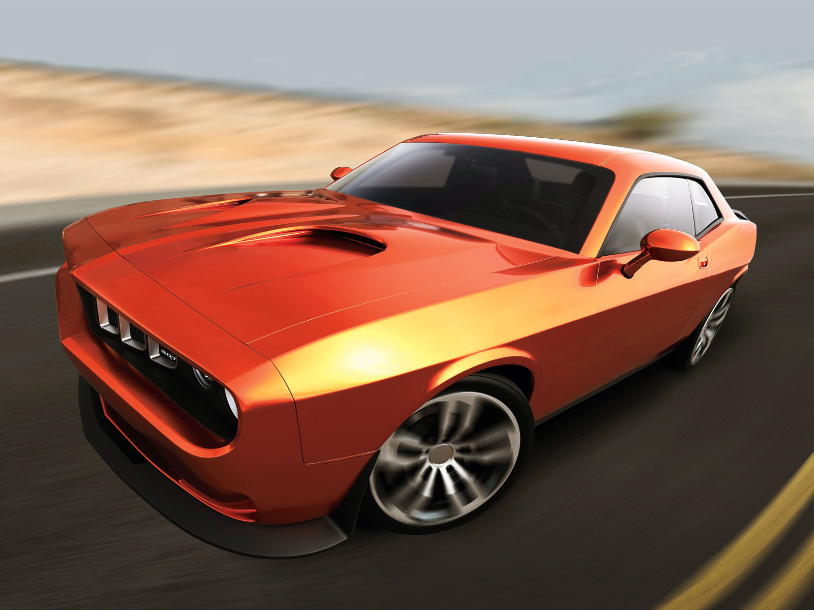 2015 Plymouth SRT Cuda Concept muscle w wallpaper background