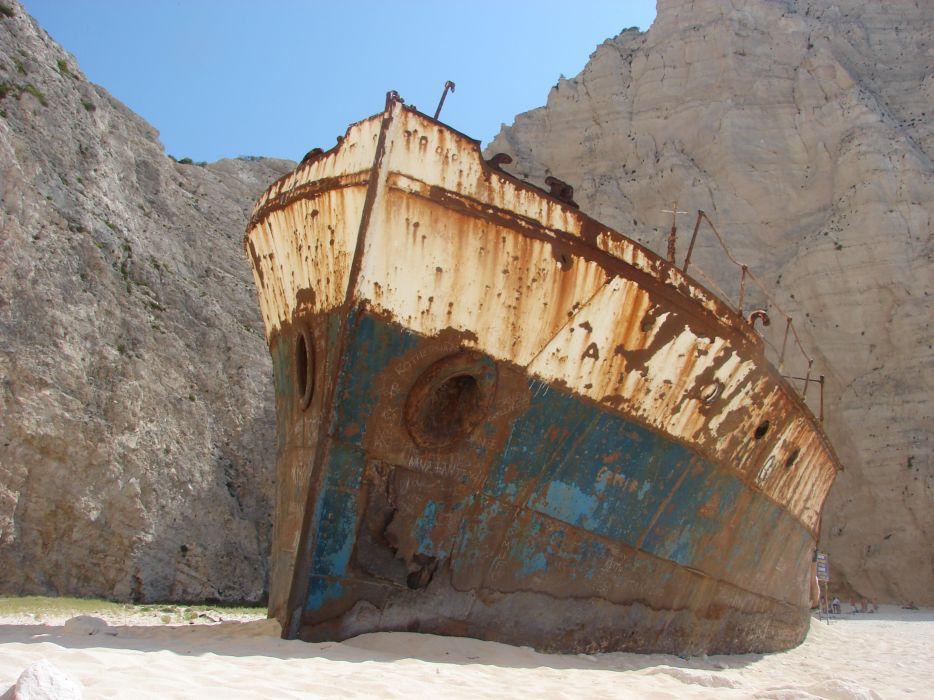 ruins shipwrecks wallpaper