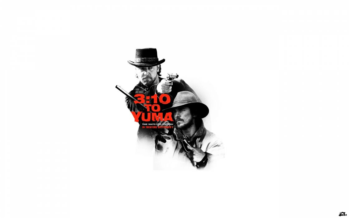 movies Christian Bale 3:10 to Yuma Russell Crowe wallpaper