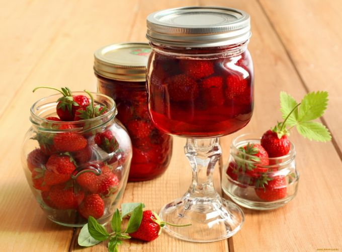 fruits strawberries wallpaper