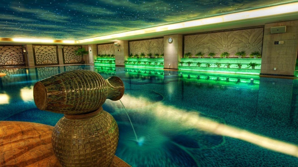 indoors swimming pools wallpaper