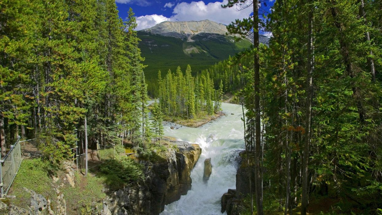 water landscapes rivers wallpaper