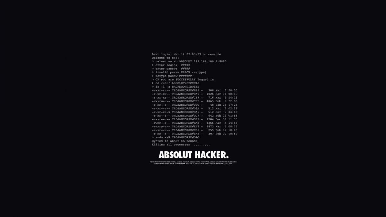 console typography hackers digital art black background wallpaper