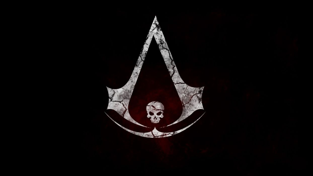 Assassin's Creed Black Flag Logo Skull wallpaper