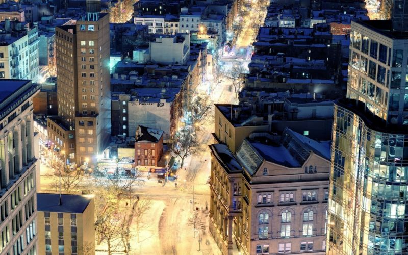 cityscapes streets night buildings cities wallpaper