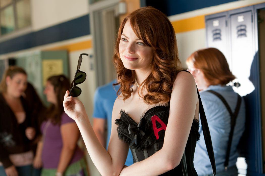Emma Stone Brown haired Glasses Celebrities Girls wallpaper