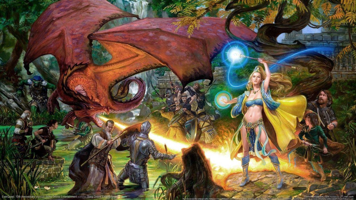 fantasy art everquest Abstract game dragons dragon magic warrior wallpaper
