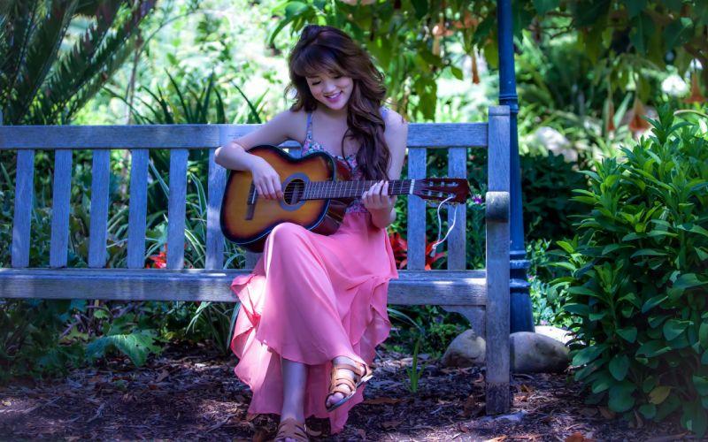 girl asian guitar music mood wallpaper