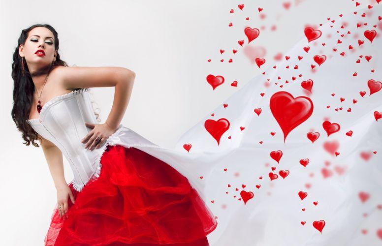 Girls Heart Corset wallpaper